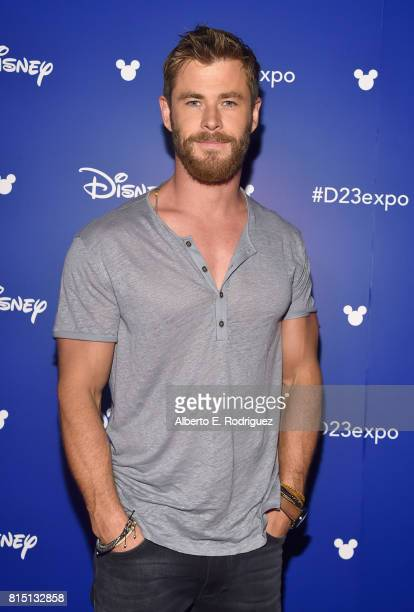 Actor Chris Hemsworth of AVENGERS INFINITY WAR took part today in the Walt Disney Studios live action presentation at Disney's D23 EXPO 2017 in...