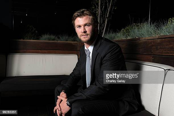 Actor Chris Hemsworth poses during Australians In Film's 2010 Breakthrough Awards held at Thompson Beverly Hills on May 13 2010 in Beverly Hills...
