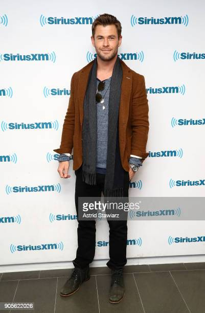 Actor Chris Hemsworth visits the SiriusXM studios on January 16 2018 in New York City