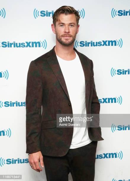 Actor Chris Hemsworth visits the SiriusXM Studios on June 13 2019 in New York City