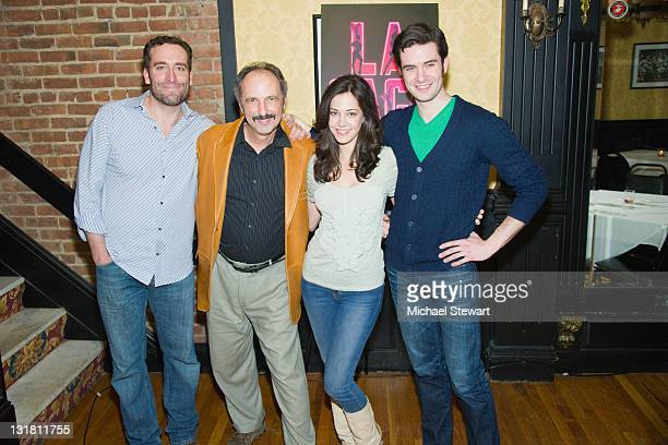 Actor Chris Hoch actor Bruce Winant actress Elena Shaddow and actor Michael Lowney attend the after party for Kelsey Grammer Douglas Hodge Robin De...