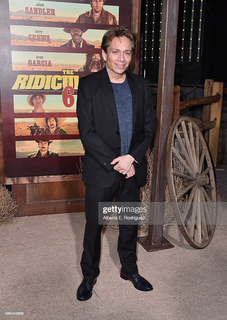 Actor Chris Kattan attends the premiere of Netflix's 'The Ridiculous 6' at AMC Universal City Walk on November 30, 2015 in Universal City, California.