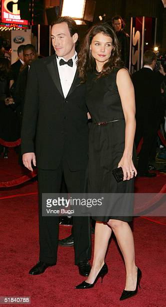 Actor Chris Klein and actress Katie Holms arrive to the Warner Bros premiere of the film Ocean's Twelve at Grauman's Chinese Theatre December 8 2004...