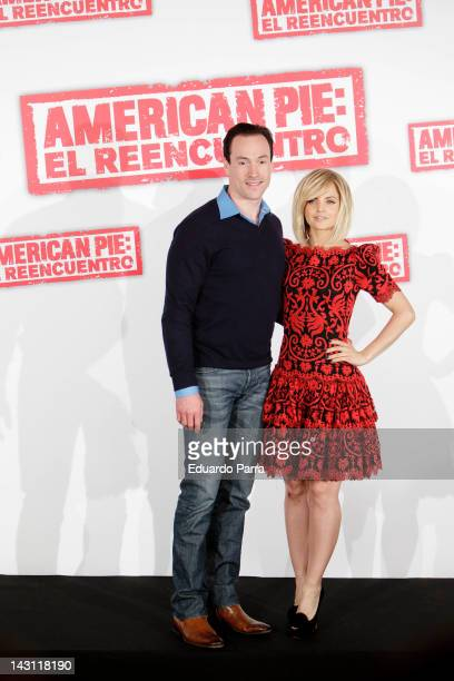 Actor Chris Klein and actress Mena Suvari attend 'American Pie: Reunion' photocall at Villamagna Hotel on April 19, 2012 in Madrid, Spain.