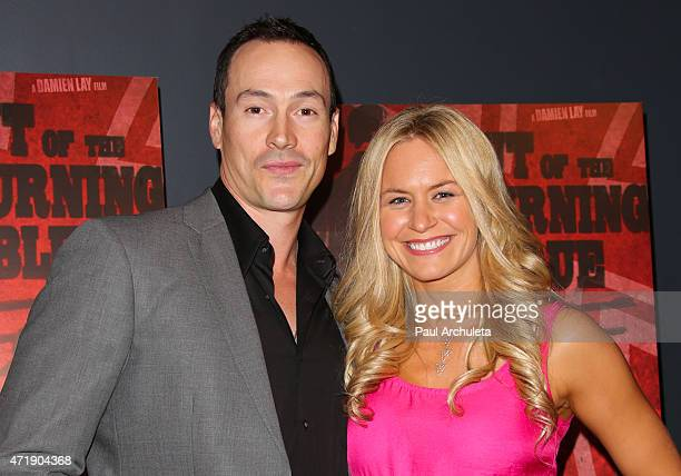 Actor Chris Klein and his Girlfriend Laina Rose Thyfault attend the Out Of The Burning Blue special cast screening and party at Avalon on May 1 2015...