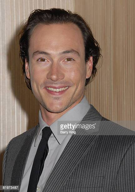 Actor Chris Klein arrives at the 2008 Crystal Lucy Awards 'A Black And White Gala' held at the Beverly Hilton Hotel on June 17 2008 in Beverly Hills...