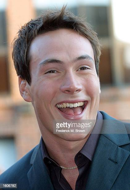 Actor Chris Klein arrives at the premiere of the film 'American Pie 2' August 6 2001 in Los Angeles CA