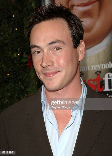 """Actor Chris Klein attends the premiere of New Line's """"Just Friends"""" at the Mann Village Theatre on November 14, 2005 in Westwood, California."""