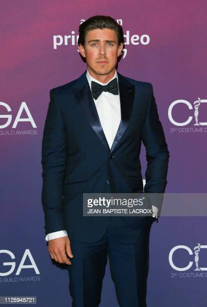 Actor Chris Lowell attends the 21st Costume Designers Guild Awards at The Beverly Hilton Hotel on February 19 2019 in Beverly Hills