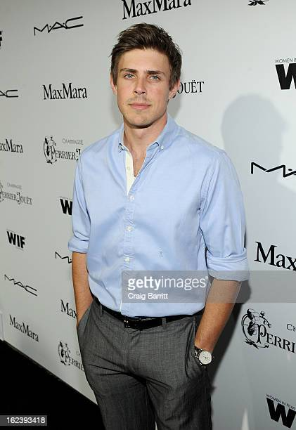 Actor Chris Lowell attends the 6th Annual Women In Film PreOscar Party hosted by Perrier Jouet MAC Cosmetics and MaxMara at Fig Olive on February 22...