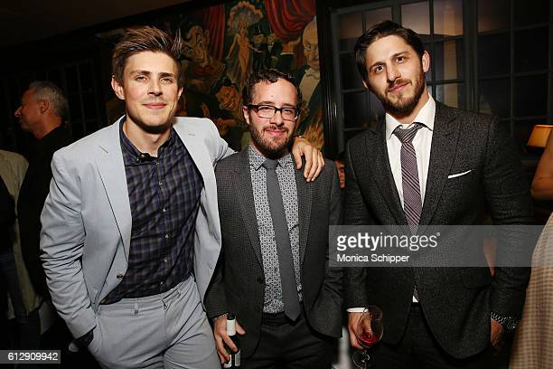 Actor Chris Lowell Jared Sheer and Franklin Latt attend the after party for the EPIX Graves NY premiere on October 5 2016 in New York City