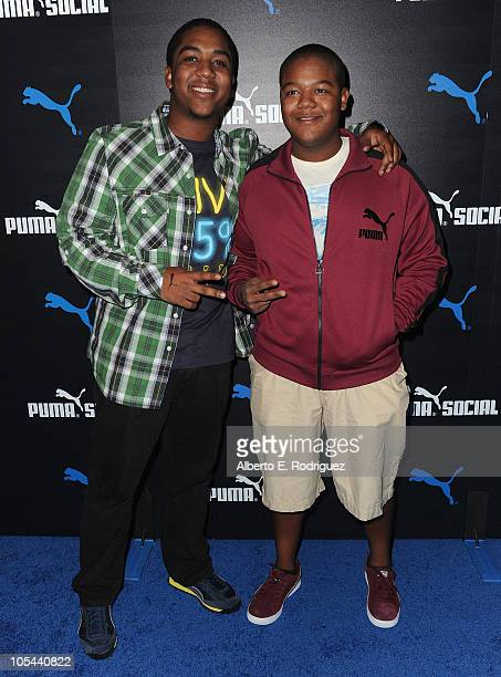 Actor Chris Massey and actor Kyle Massey rarrive to the launch of the Puma Social Club LA on October 13 2010 in Los Angeles California