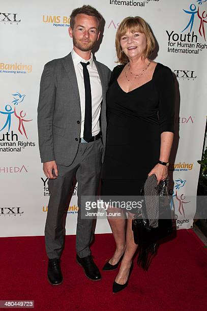 Actor Chris Masterson and Carol Masterson attend the Youth For Human Rights International Celebrity Benefit Event hosted at the Beso on March 24 2014...