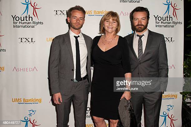 Actor Chris Masterson Carol Masterson and Danny Masterson attend the Youth For Human Rights International Celebrity Benefit Event hosted at the Beso...