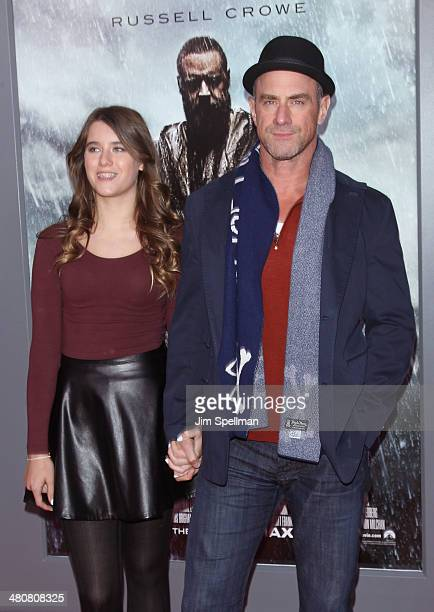 Actor Chris Meloni and daughter Sophia Eva Pietra attend the 'Noah' New York Premiere at Ziegfeld Theatre on March 26 2014 in New York City