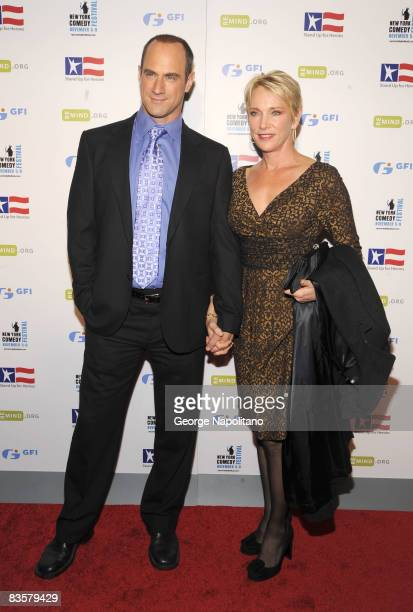 Actor Chris Meloni and wife attend the 2008 Stand Up For Heroes: A Benefit for the Bob Woodruff Foundation at Town Hall on November 5, 2008 in New...