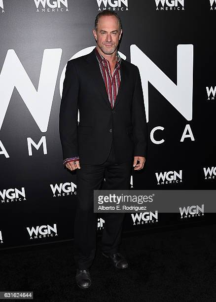 Actor Chris Meloni attends the photo call for WGN America's 'Underground' and 'Outsiders' at The Langham Hotel on January 13 2017 in Pasadena...