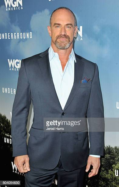 Actor Chris Meloni attends the WGN America Winter 2016 TCA Press Tour for Underground at The Langham Huntington Hotel and Spa on January 8 2016 in...