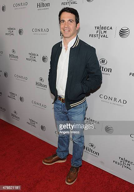 Actor Chris Messina arrives at the 2014 Tribeca Film Festival LA Kickoff Reception at The Beverly Hilton Hotel on March 17 2014 in Beverly Hills...
