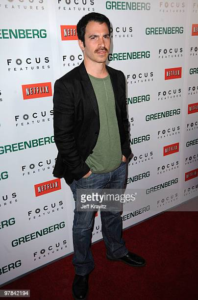 Actor Chris Messina arrives at the premiere of 'Greenberg' presented by Focus Features at ArcLight Hollywood on March 18 2010 in Hollywood California