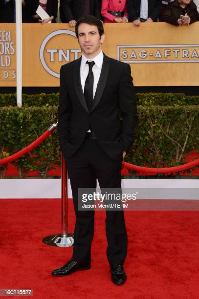 Actor Chris Messina attends the 19th Annual Screen Actors Guild Awards at The Shrine Auditorium on January 27 2013 in Los Angeles California...