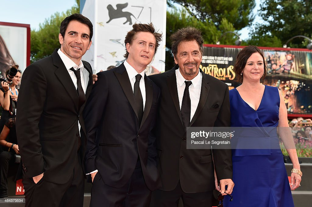 Actor Chris Messina, director David Gordon Green and actor Al Pacino with producer Lisa Muskat attend the 'Manglehorn' premiere during 71st Venice Film Festival on August 30, 2014 in Venice, Italy.