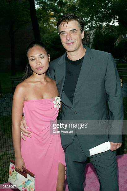 Actor Chris Noth and date Tara Wilson arriving at the World Premiere of the fifth season of 'Sex And The City' at the American Musuem of Natural...