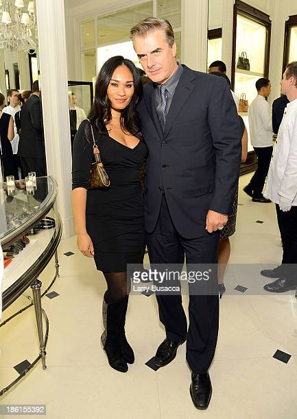 Actor Chris Noth and Tara Wilson attend Ralph Lauren Presents Exclusive Screening Of Hitchcock's To Catch A Thief Celebrating The Princess Grace...