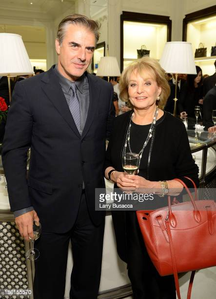 Actor Chris Noth and tv personality Barbara Walters attend Ralph Lauren Presents Exclusive Screening Of Hitchcock's To Catch A Thief Celebrating The...