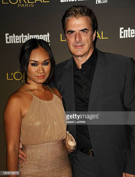 Actor Chris Noth and wife Tara Lynn Wilson attend the 2012 Entertainment Weekly preEmmy party at Fig Olive Melrose Place on September 21 2012 in West...