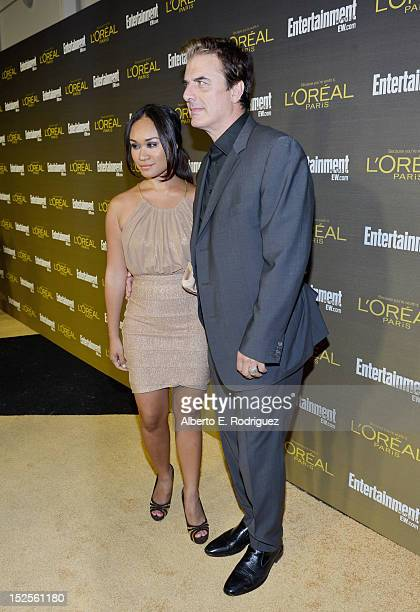 Actor Chris Noth and wife Tara Lynn Wilson attends The 2012 Entertainment Weekly PreEmmy Party Presented By L'Oreal Paris at Fig Olive Melrose Place...