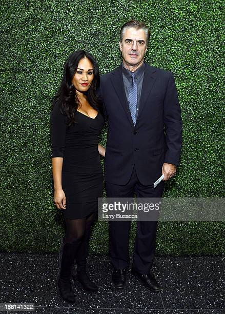 Actor Chris Noth and wife Tara Wilson arrive as Ralph Lauren Presents Exclusive Screening Of Hitchcock's To Catch A Thief Celebrating The Princess...