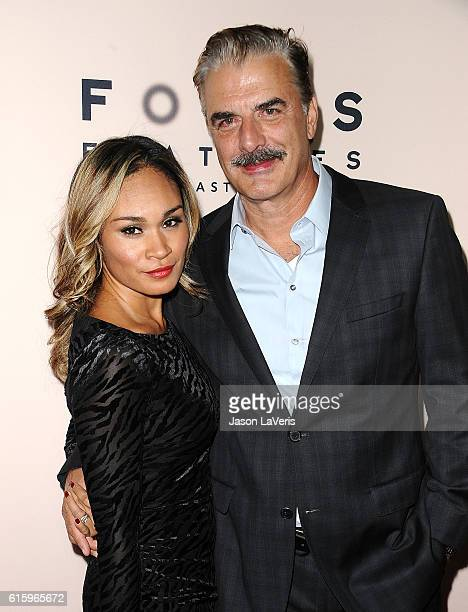 Actor Chris Noth and wife Tara Wilson attend the premiere of 'Loving' at Samuel Goldwyn Theater on October 20 2016 in Beverly Hills California