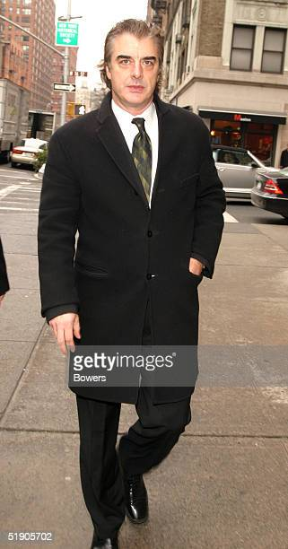 Actor Chris Noth attends the funeral for Jerry Orbach at Riverside Chapel December 31 2004 in New York City