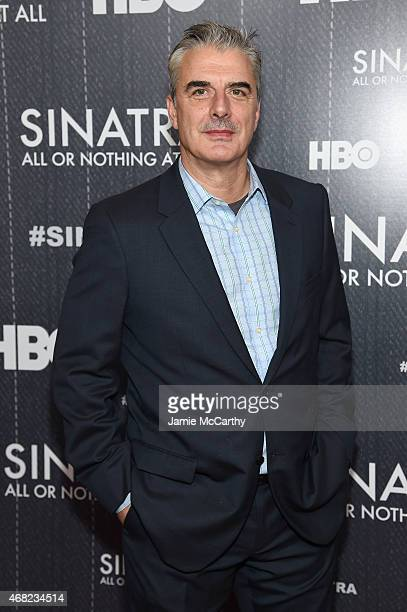 Actor Chris Noth attends the Sinatra All Or Nothing At All New York screening at Time Warner Center on March 31 2015 in New York City