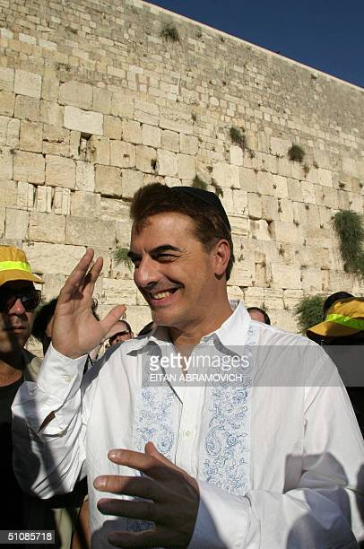 US actor Chris Noth known as 'Mr Big' who stared in the popular TV series 'Sex and the City' visits the Wailing Wall Judaism's holiest site 20 July...