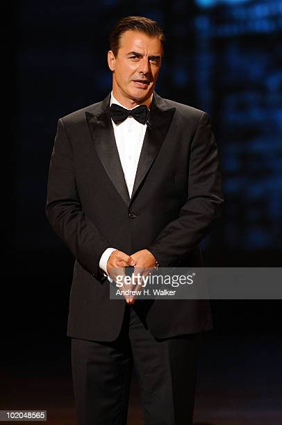 Actor Chris Noth speaks onstage during the 64th Annual Tony Awards at Radio City Music Hall on June 13 2010 in New York City