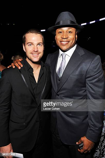 Actor Chris O' Donnell and actor/rapper LL Cool J attend the 52nd Annual GRAMMY Awards held at Staples Center on January 31 2010 in Los Angeles...