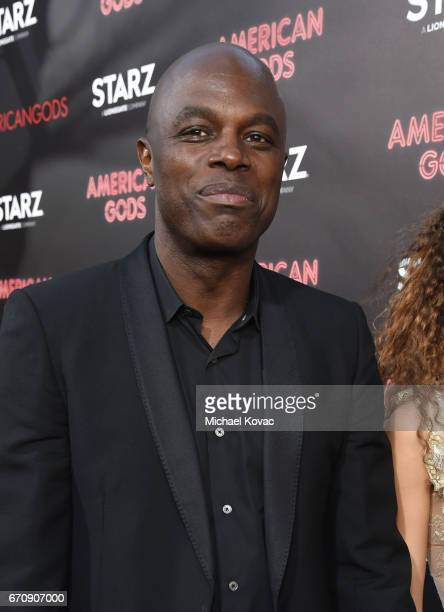 """Actor Chris Obi attends the """"American Gods"""" premiere at ArcLight Hollywood on April 20, 2017 in Los Angeles, California."""
