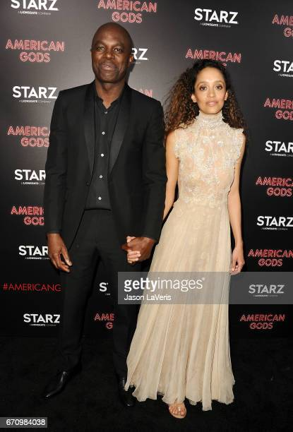 """Actor Chris Obi attends the premiere of """"American Gods"""" at ArcLight Cinemas Cinerama Dome on April 20, 2017 in Hollywood, California."""