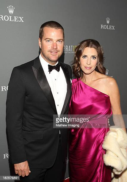 Actor Chris O'Donnell and Caroline Fentress arrive at the Los Angeles Philharmonic's 10th Anniversary Celebration at Walt Disney Concert Hall on...