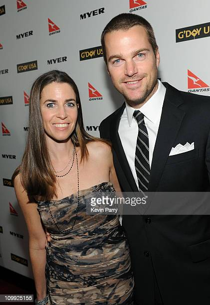 Actor Chris O'Donnell and Caroline Fentress attend the G'Day USA 2010 Black Tie gala at the Hollywood Highland Center on January 16 2010 in Hollywood...