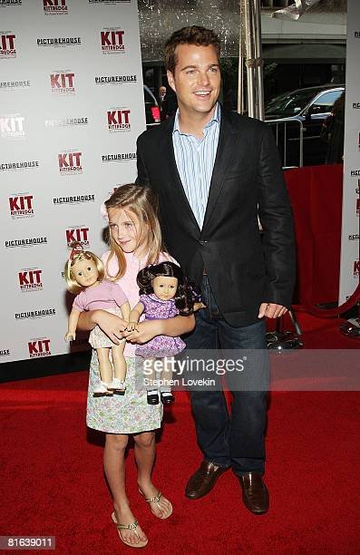 Actor Chris O'Donnell and daughter Lily O'Donnell attend the premiere of Kit Kittredge An American Girl on June 19 2008 at The Ziegfeld Theater in...