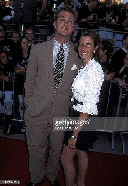 Actor Chris O'Donnell and girlfriend Caroline Fentress attend the Batman Forever Westwood Premiere on June 9 1995 at Mann Village Theatre in Westwood...