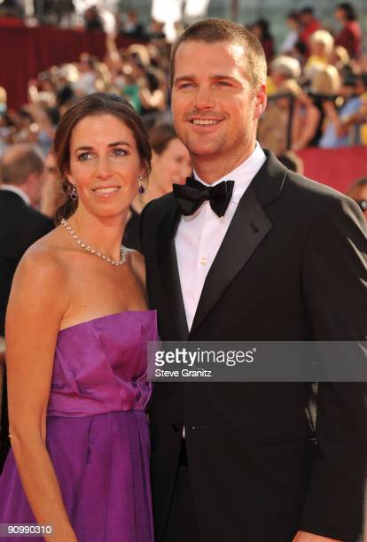 Actor Chris O'Donnell and guest arrives at the 61st Primetime Emmy Awards held at the Nokia Theatre on September 20 2009 in Los Angeles California