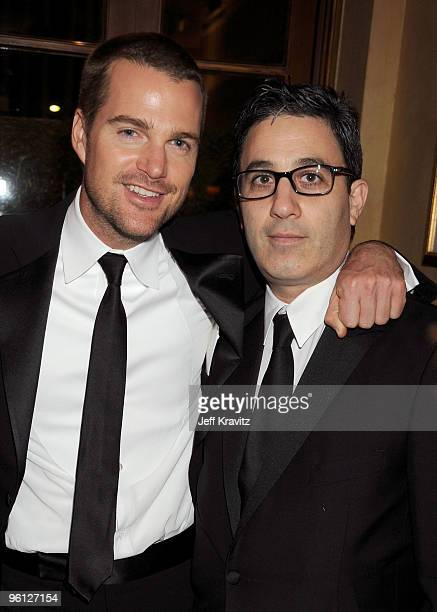 Actor Chris O'Donnell and Jason Wienberg attend the HBO post SAG awards party at Spago on January 23 2010 in Beverly Hills California