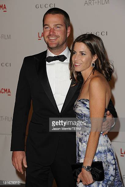 Actor Chris O'Donnell and wife Caroline Fentress arrive at LACMA's Art And Film Gala Honoring Clint Eastwood And John Baldessari at LACMA on November...
