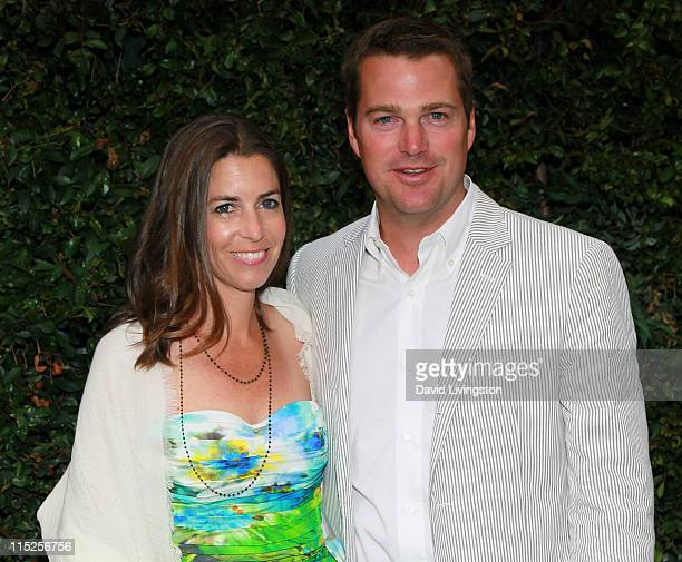 Actor Chris O'Donnell and wife Caroline Fentress attend Chanel's benefit dinner for the Natural Resources Defense Council's Ocean Initiative at the...