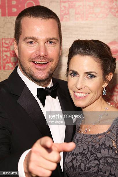 Actor Chris O'Donnell and wife Caroline Fentress attend HBO's Official Golden Globe Awards After Party at The Beverly Hilton Hotel on January 12 2014...