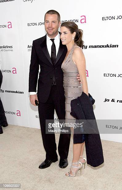 Actor Chris O'Donnell and wife Caroline Fentress attend the 19th Annual Elton John AIDS Foundation's Oscar viewing party held at the Pacific Design...